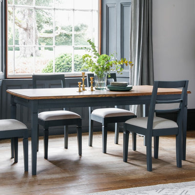 Gallery Bronte Extendable Dining Table in Storm Blue-GalleryDirect-Olivia's