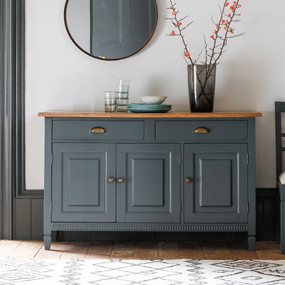 Gallery Bronte 3 Door/2 Drawer Sideboard in Storm Blue-GalleryDirect-Olivia's