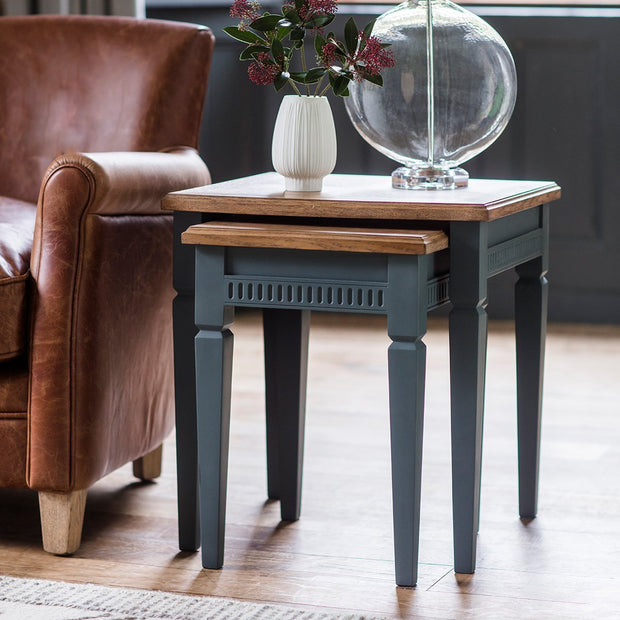 Gallery Bronte Nest of 2 Tables in Storm Blue-GalleryDirect-Olivia's