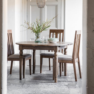 Gallery Cookham Round Extendable Dining Table in Oak-GalleryDirect-Olivia's