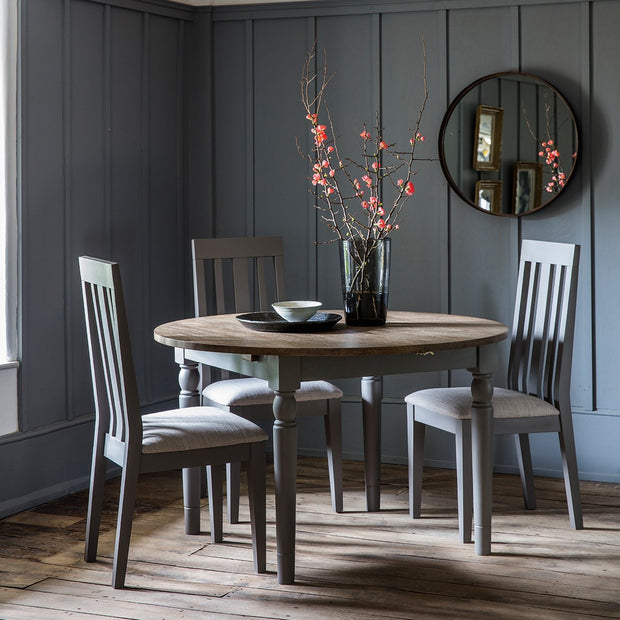 Gallery Cookham Round Extendable Dining Table in Grey-GalleryDirect-Olivia's