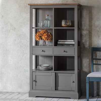 Gallery Cookham Rustic Bookcase in Grey-GalleryDirect-Olivia's