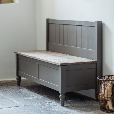 Gallery Cookham Hall Bench in Grey
