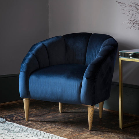 Gallery Tulip Chair in Velvet