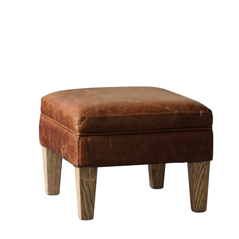 Gallery Mr. Paddington Stool in Vintage Brown Leather