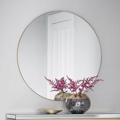 Gallery Hayle Round Mirror Champagne-GalleryDirect-Olivia's