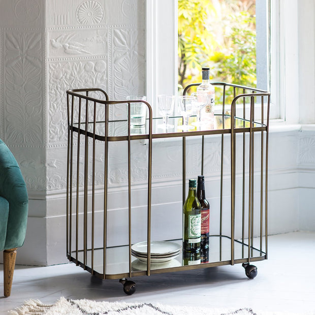 Gallery Verna Drinks Trolley Bronze-GalleryDirect-Olivia's