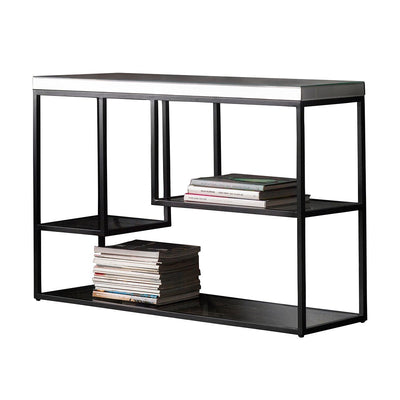Gallery Pippard Mirrored Top Console Table in Black-GalleryDirect-Olivia's