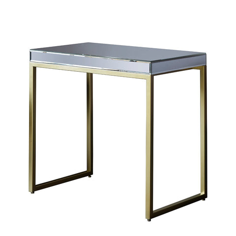 Gallery Pippard Mirrored Top Side Table in Champagne