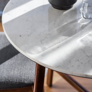 Gallery Barcelona Marble Round Dining Table Set with 4 Dining Chairs-GalleryDirect-Olivia's