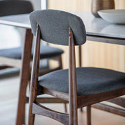 Set of 2 Gallery Barcelona Grey & Wood Dining Chair-GalleryDirect-Olivia's