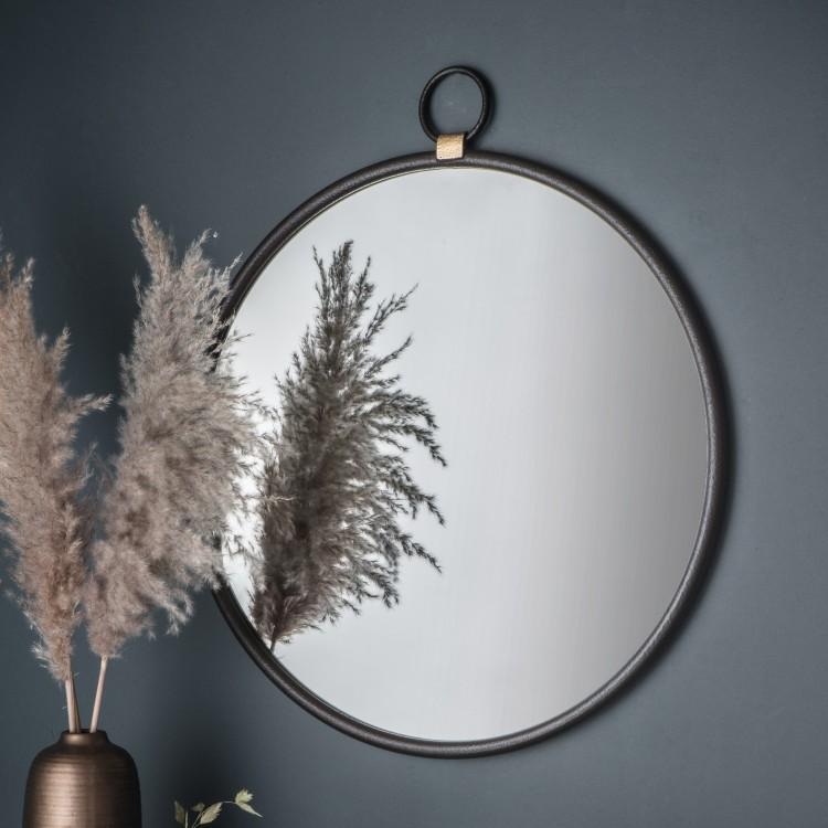 Gallery Direct Bayswater Black Round Mirror | Outlet
