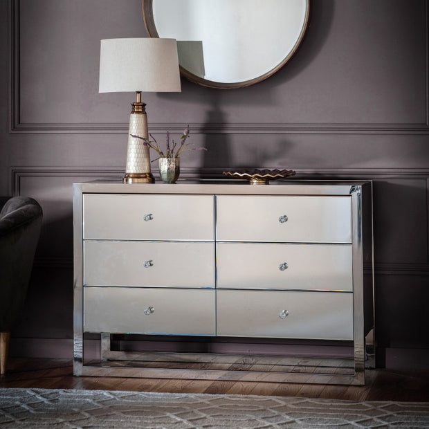 Cutler 6 Drawer Mirrored Chest