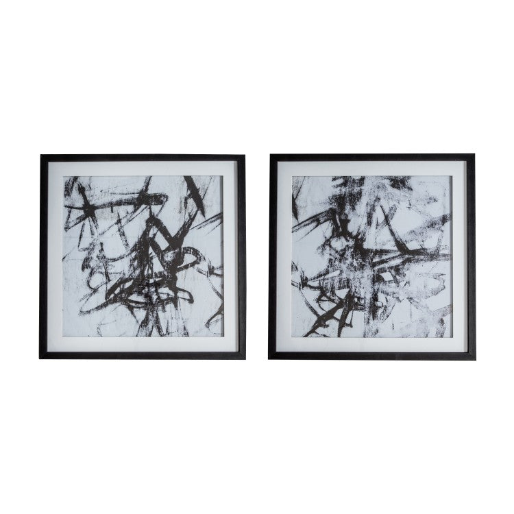Gallery Direct Monochrome Abstract Art Set of 2