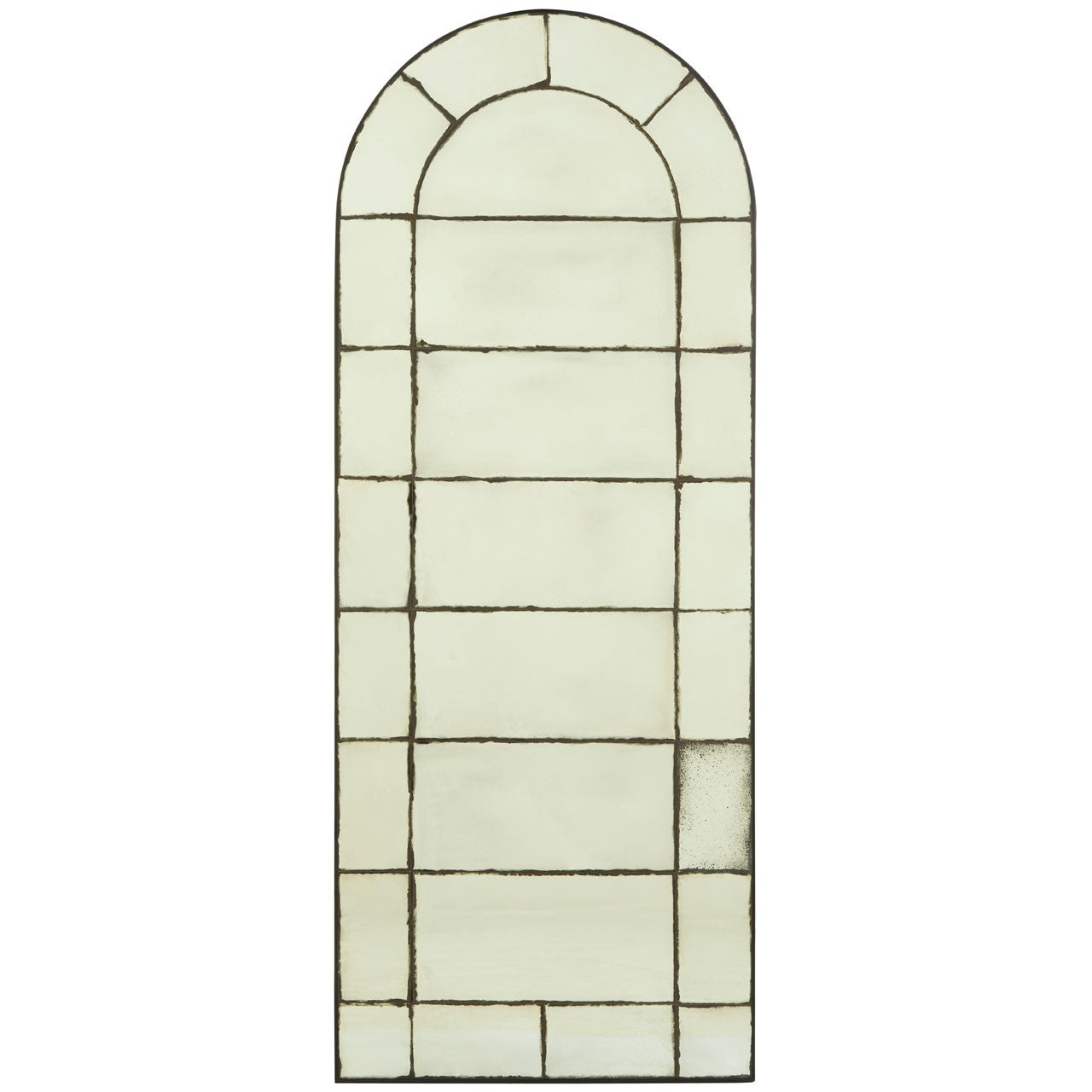 Olivia's Ray Wall Mirror Window Effect Grey | Outlet