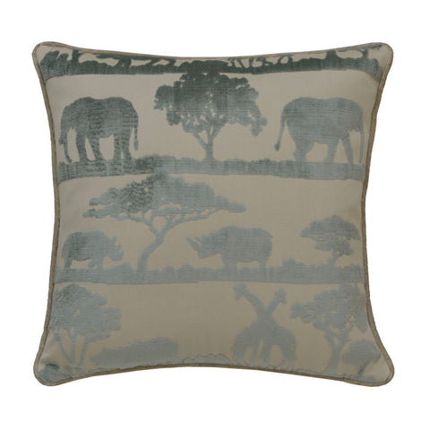 Andrew Martin Safari Giraffe Duck Egg Cushion