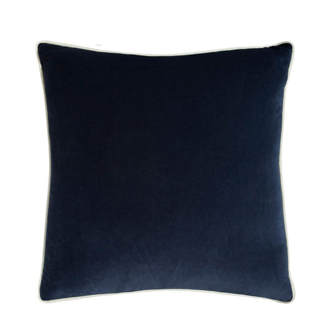 Andrew Martin Pelham Denim Cushion with Milk Piping