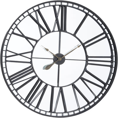 Libra Oversized Skeleton Mirror Wall Clock