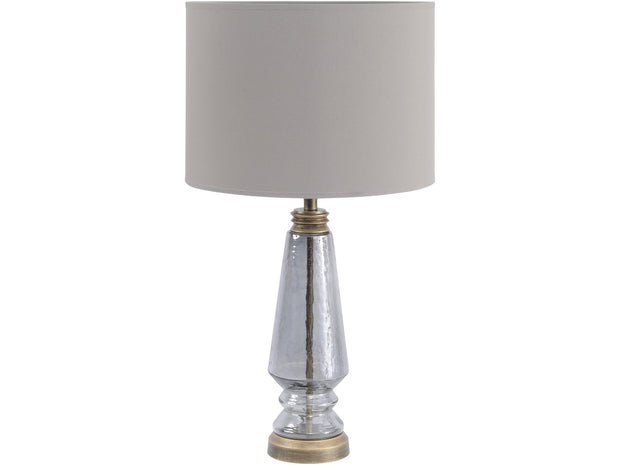 "Libra Charlton Black Lustre And Gold Table Lamp (Base Only) - E27 60W 14"" Shade-Libra-Olivia's"