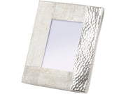 Libra Fuse Hammered and Brushed 5X7 Inch Photo Frame in Silver Finish-Libra-Olivia's