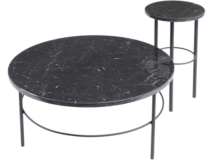 Libra Chancery Marquina Marble Coffee Table-Libra-Olivia's