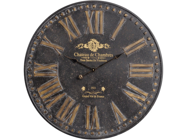 Libra Antique Iron Chateau Wall Clock-Libra-Olivia's