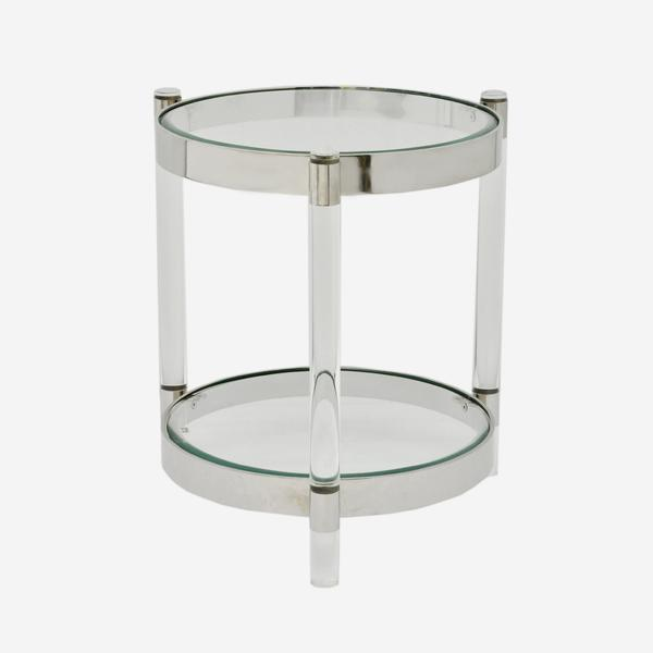 Andrew Martin Sachs Side Table in Silver