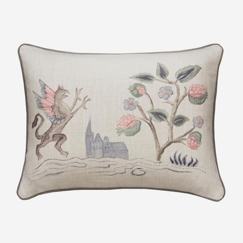 Andrew Martin Tapestry Folk Griffin Cushion