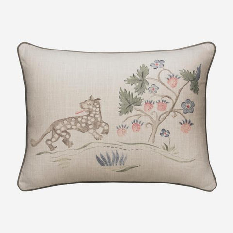 Andrew Martin Tapestry Folk Leopard Cushion