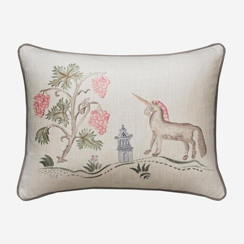 Andrew Martin Tapestry Folk Unicorn Cushion