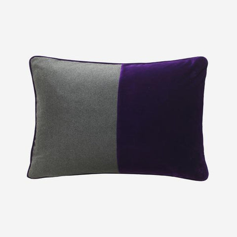 Andrew Martin Double Dip Grape Escape Cushion, Rectangle