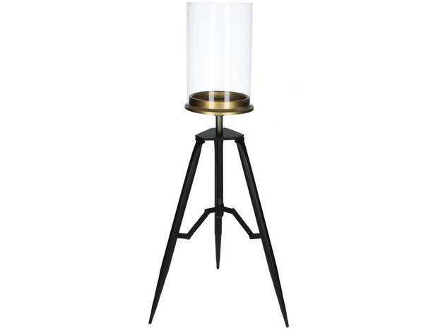 Libra Rowan Clear And Black Tripod Hurricane Medium-Libra-Olivia's