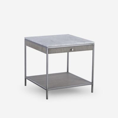 Andrew Martin Rufus Marble Top Side Table-AndrewMartin-Olivia's