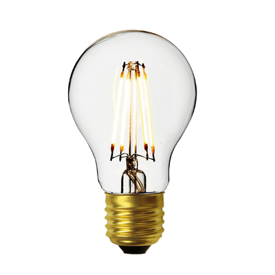 Industville Vintage LED Edison Bulb Old Filament Lamp - 7W E27 Classic A60 - Clear