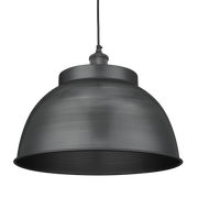Brooklyn Dome Pendant - 17 Inch - Pewter-Industville-Olivia's