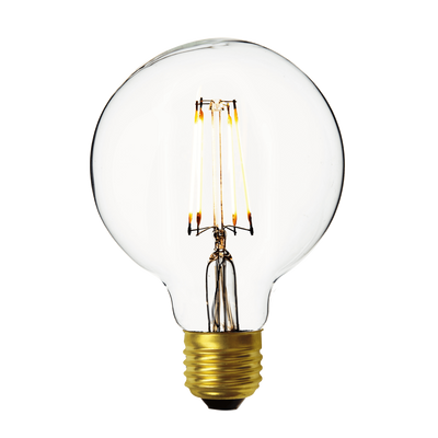Industville Vintage LED Edison Bulb Old Filament Lamp - 7W E27 Small Globe G95 - Clear