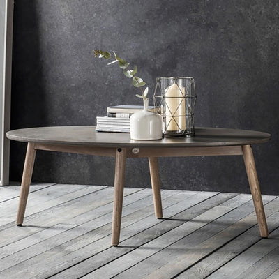 Hudson Living Bergen Scandi Oval Coffee Table-GalleryDirect-Olivia's