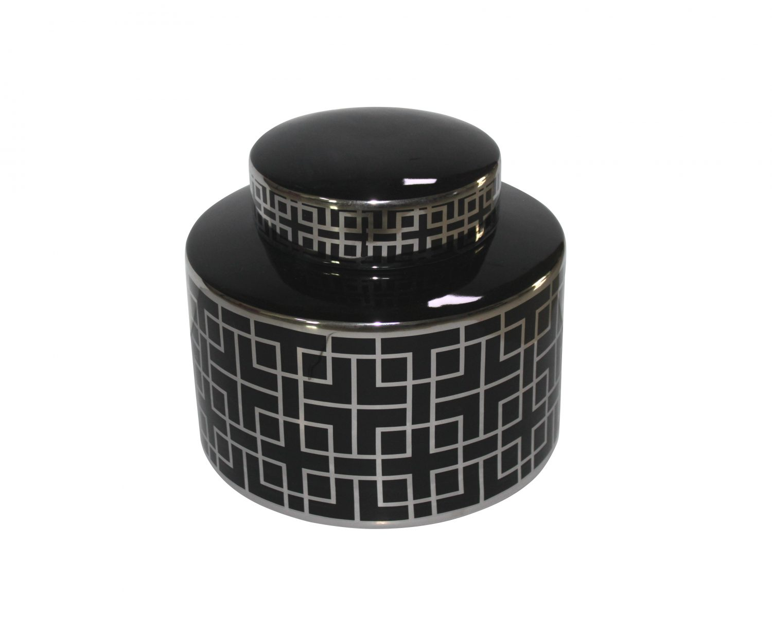Liang & Eimil Silver and Black Jar