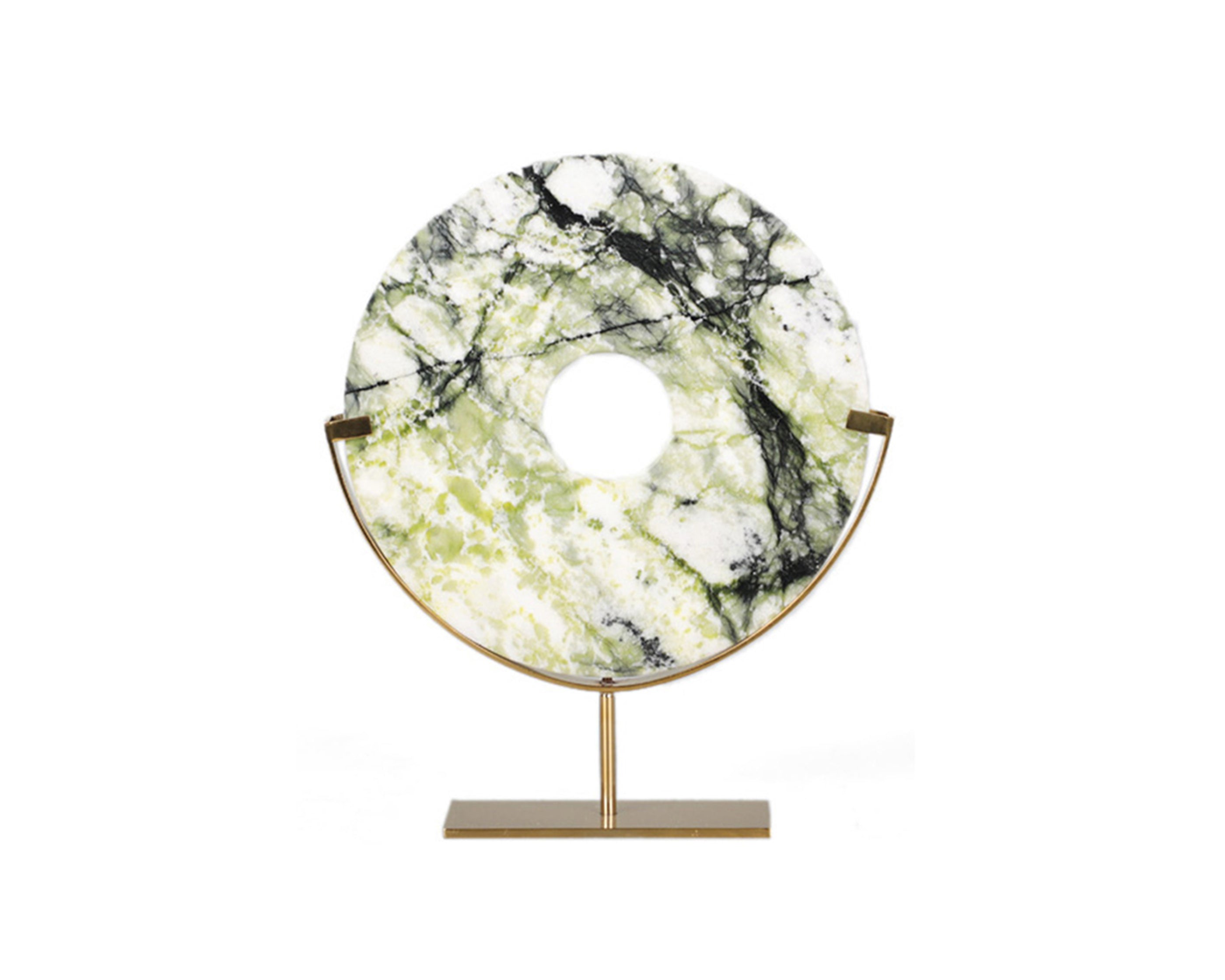 Liang & Eimil Artistic Marble Sculpture - Brass Stainless Steel Base