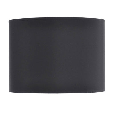 "Libra Black and Silver Lined Drum 14"" Lampshade"