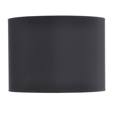 "Libra Black and Silver Lined Drum 16"" Lampshade"