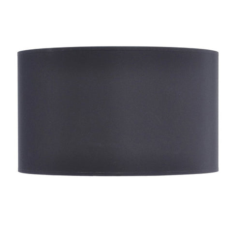 "Libra Black and Silver Lined Drum 20"" Lampshade"