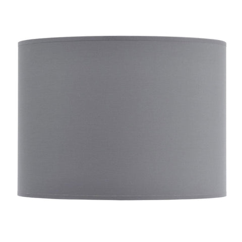 "Libra Grey and Silver Lined Drum 16"" Lampshade"