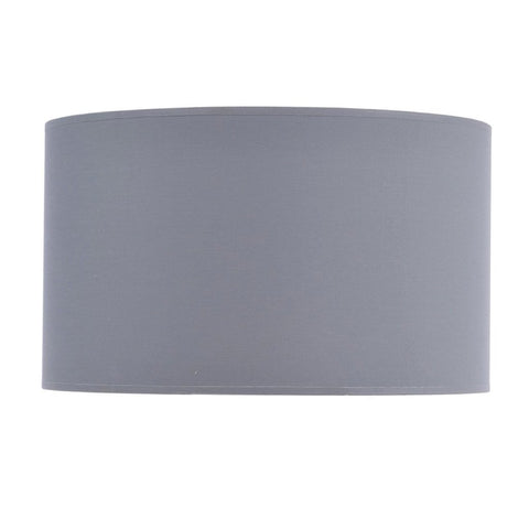 "Libra Grey and Silver Lined Drum 20"" Lampshade"