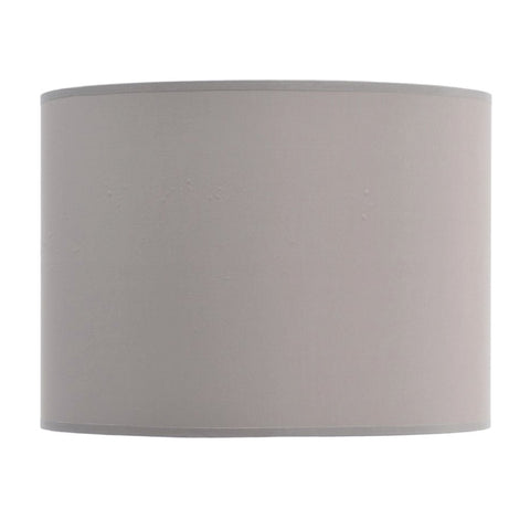 "Libra Taupe and Champagne Lined Drum 14"" Lampshade"