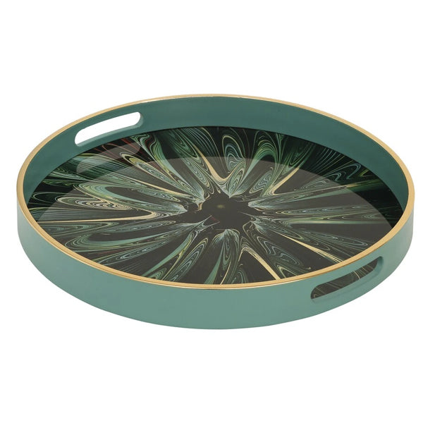 Mindy Brownes Serving  Tray (Green Envy)
