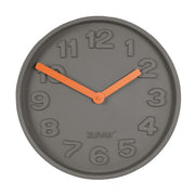 ZUIVER CLOCK CONCRETE TIME ORANGE