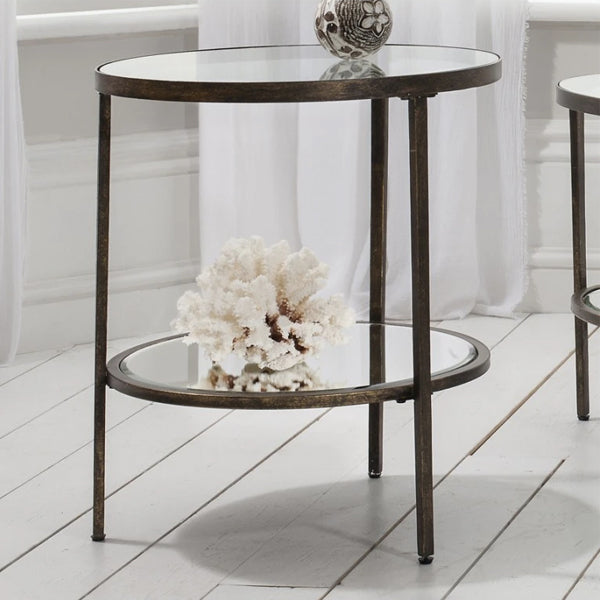 Gallery Hudson Side Table in Aged Bronze-GalleryDirect-Olivia's