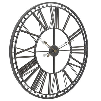 Libra Skeleton Mirror Wall Clock Large-Libra-Olivia's