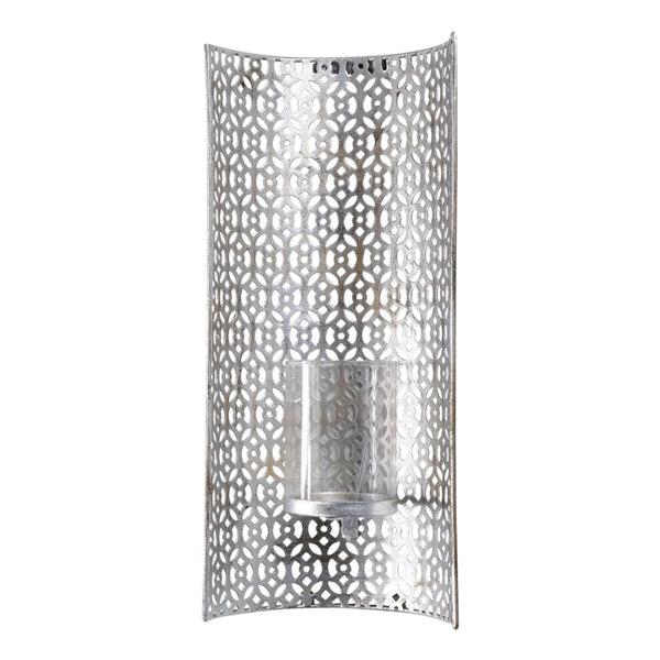 Libra Fretwork Wall Sconce Silver | Outlet